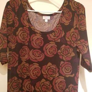 LuLaRoe ANA Disney Roses maxi dress size XL